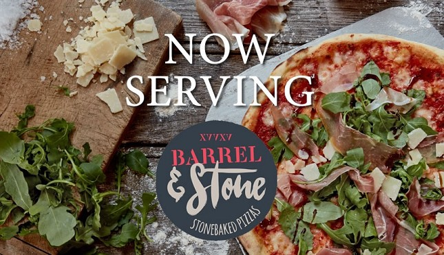 Barrel and Stone pizzas